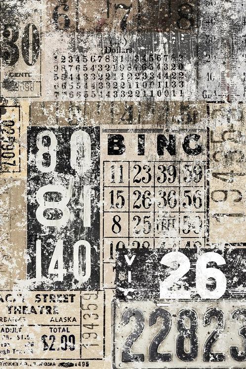 Grunge Number Collage