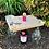 Thumbnail: Barnwood Wine Bottle & Glass Holder ( 4 Glass)