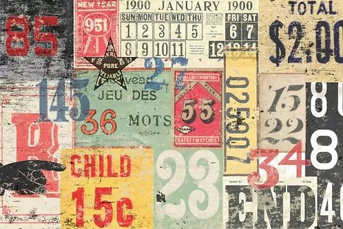 Numbered Decollage