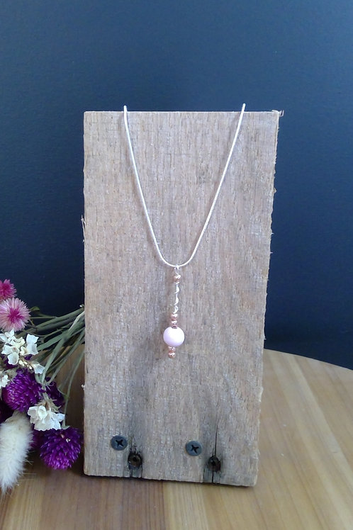 Beaded Wire Dangle Necklace