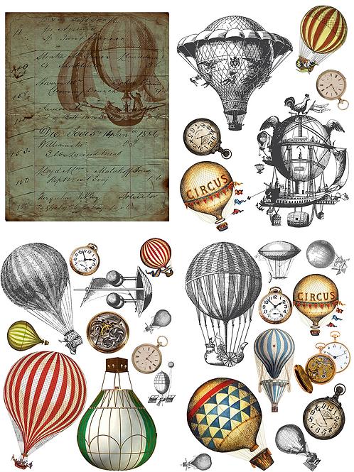 Hot Air Balloons and Clocks