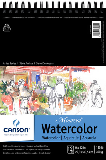 Canson Watercolor Pad 9 x 12