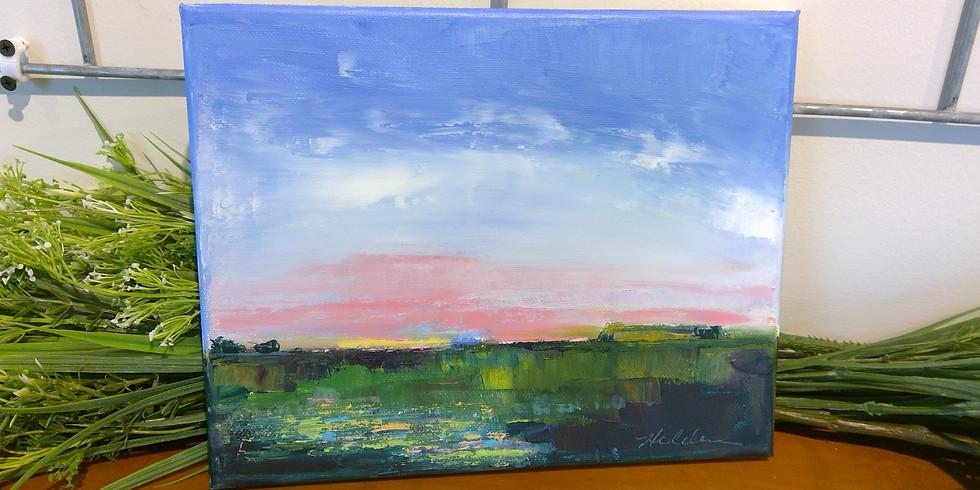"Acrylic Painting Class ""Landscape"""