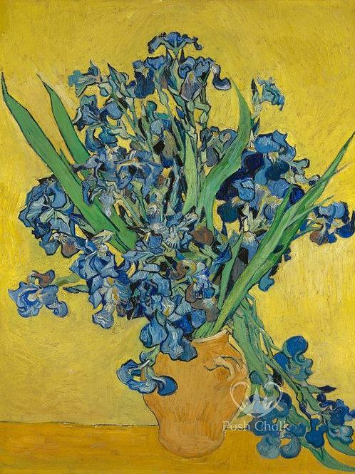 Irises In Gold