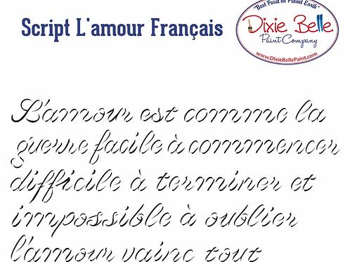 Script d'amour Francais