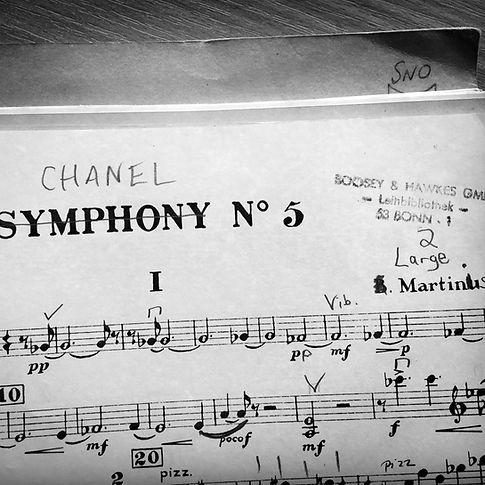 Martinu Symphony no. 5 score image