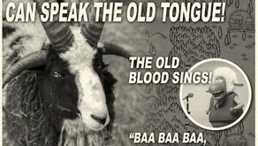 EXTRA EXTRA! TWO RIVERS SHEEP SPEAKS THE OLD TONGUE!