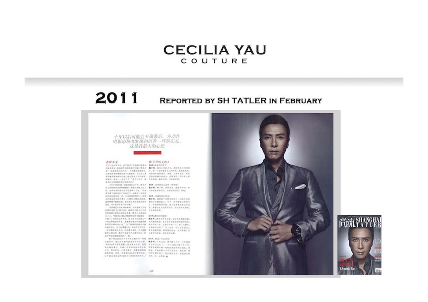 Yen Zidang in Cecilia Yau Couture