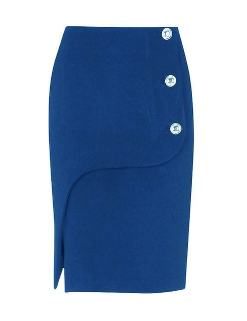 【CHIC】ROYAL BLUE PENCIL SKIRT【WSK 1727】C+