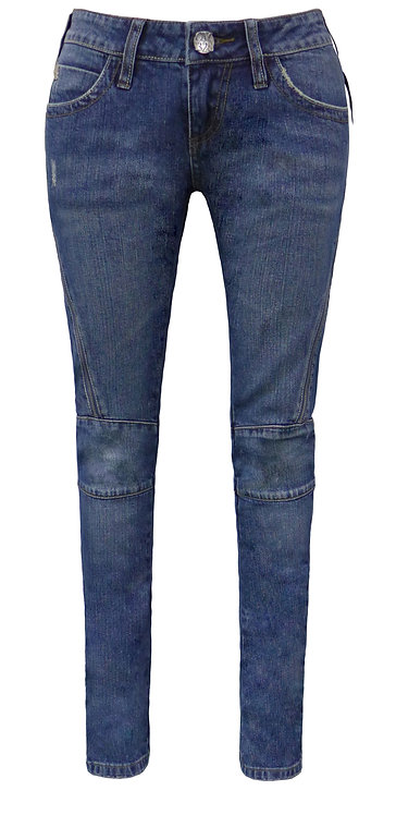 BLUE SUPER SKINNY JEANS WITH ZIPPERS【CM1328-4】