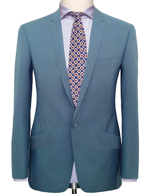 DIRTY SKY BLUE CONTEMPORARY TAILORED BUSINESS SUIT