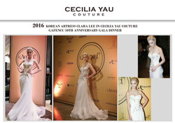 Clara Lee in Cecilia Yau Couture gow