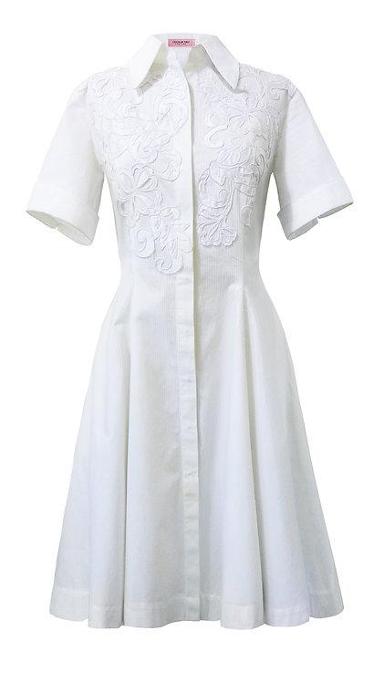 【CHIC】SNOWY WHITE LACE SHIRT PRINCESS DRESS【WDS 1757】C+++