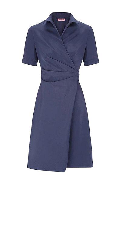 【BASIC】DARK SLATE BLUE WRAP DRESS【WDS 1726】C+