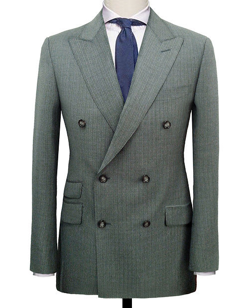 Olive Green Double Breasted Suit