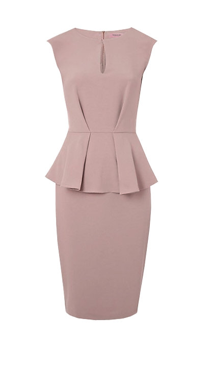 【CHIC】DIRTY PINK PEPLUM DRESS【WDS 1731】C++