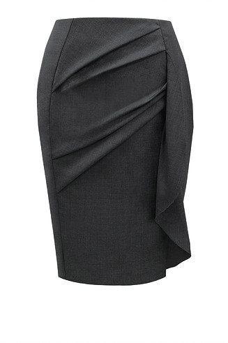 【CHIC】CHARCOAL DRAPING PENCIL SKIRT【WSK 1747】C++
