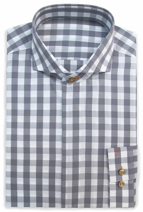 Grey & White Check Sea Isalnd Cotton