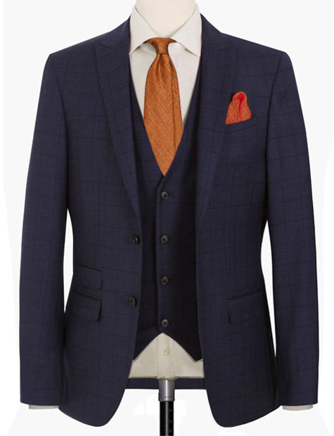 STARRY NIGHT WINDOWPANE CHECKS -REGULAR FITTING SUIT