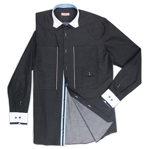 CHARCOAL SHIRT WITH SPECIAL POCKETS