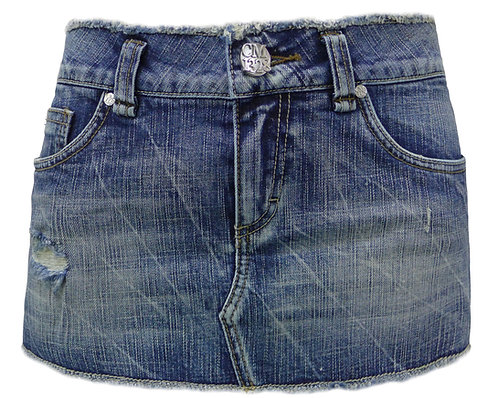 LOW-WAIST DENIM SKIRT 【CM1328-13】