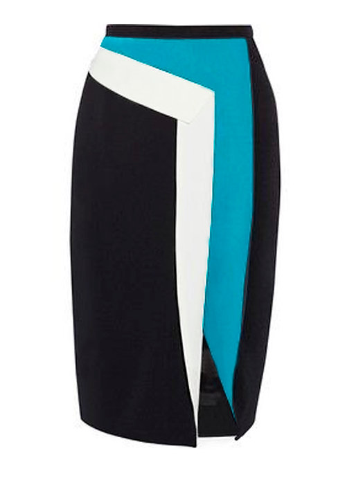 【CHIC】COLORS PATCH PENCIL SKIRT【WSK 1740】C++