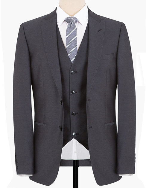 SMOKED PEARL THREE-PIECES - REGULAR FITTING SUIT
