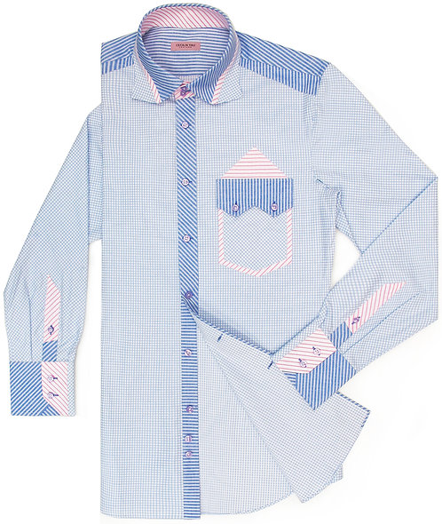 Power Blue with Special Pocket Cut Shirt