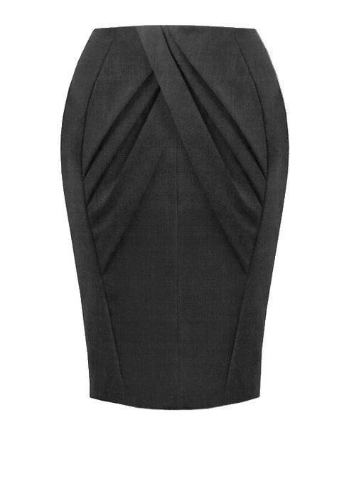 【CHIC】CHARCOAL DRAPING PENCIL SKIRT【WSK 1748】C++