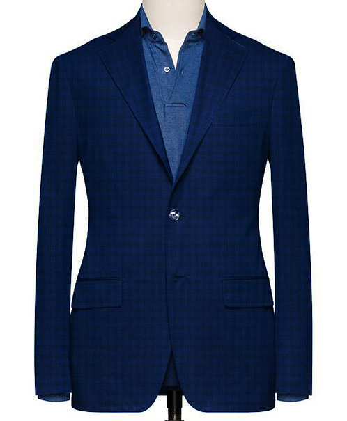 INDIGO GINGHAM TAILORED FIT BLAZER