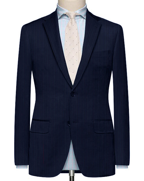PINK N BLUE CHALKERSTRIPE TAILORED WOOL SUIT