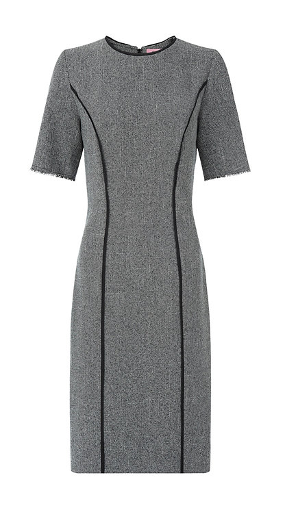 【CHIC】GREY TWILL SHEATH DRESS【WDS 1713】S