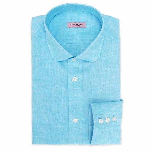 Sky Blue 100% Linen Super Soft Shirt