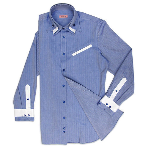 TWILL SHIRT WITH SPECIAL COLLAR