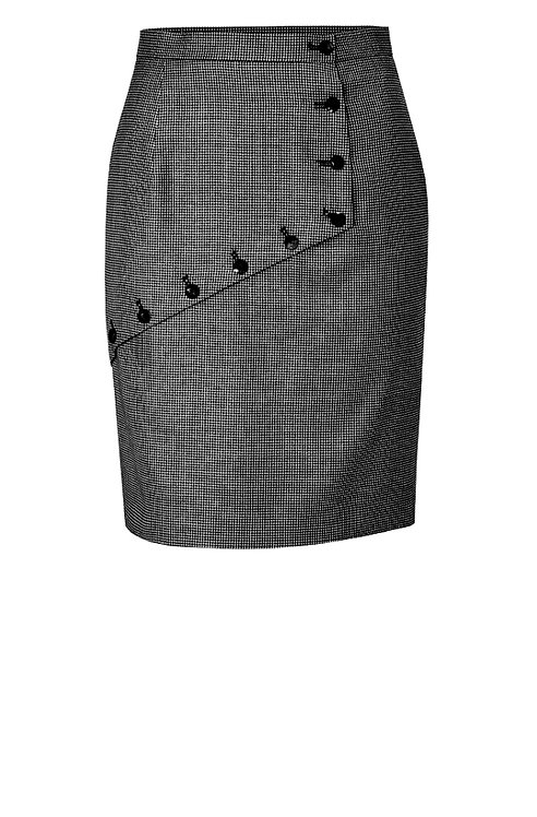 【CHIC】BLACK BUTTONED EXECUTIVE PENCIL SKIRT【WSK 1758】C++
