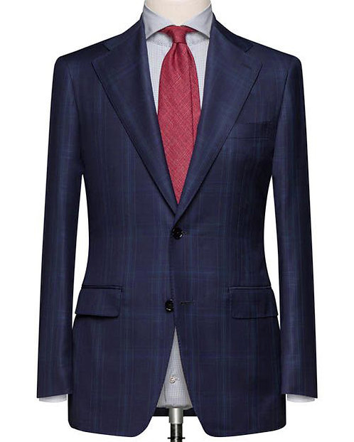 NAVY GLEN TAILORED FIT CHECK SUIT