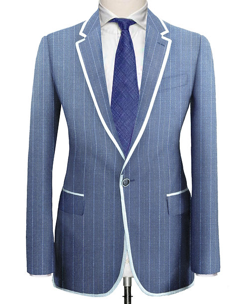 SKY BLUE CHALKSTRIPE SLIM FIT SUIT