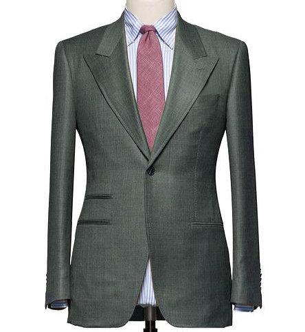 Olive Green Smart Suit