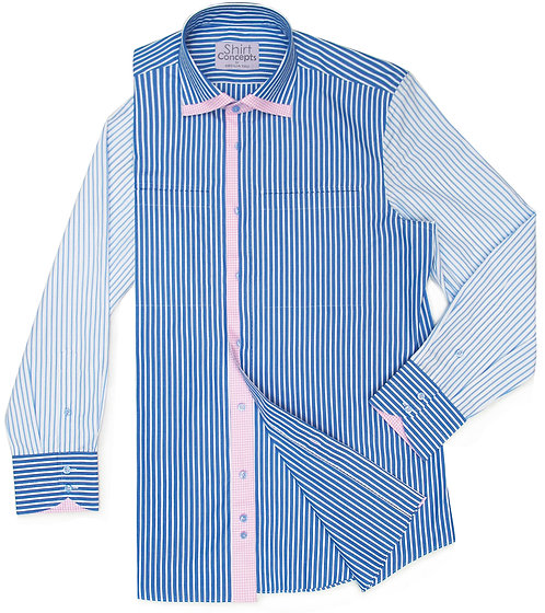 Blue Mix Stripe Shirt