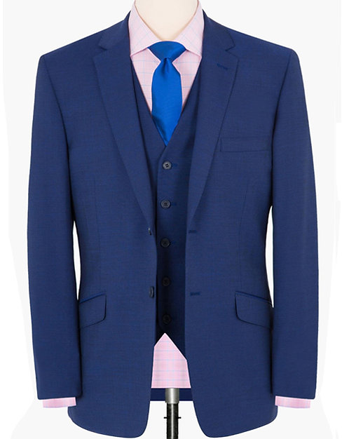 CLASSIC BLUE THREE-PIECES -REGULAR FITTING SUIT