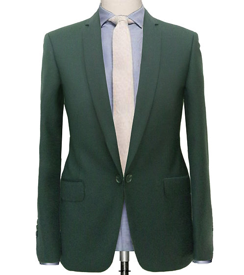 FOREST GREEN TWILL TAILORED FIT SUIT