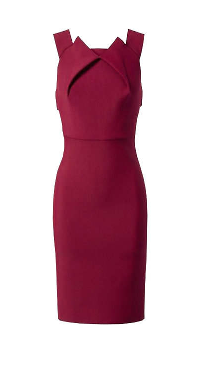 【CHIC】ROSE RED DRAPING DRESS【WDS 1739】C+++