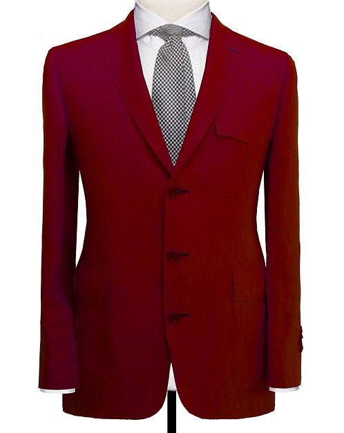 VELVET RED TAILORED FIT BLAZER