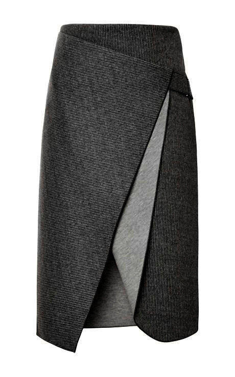 【CHIC】WRAP SKIRT SHADES OF GREY【WSK 1702】C+
