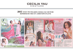 Miss Hong Kong in Cecilia Yau gowns