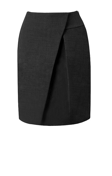 【CHIC】BLACK WRAP PENCIL SKIRT【WSK 1752】C+