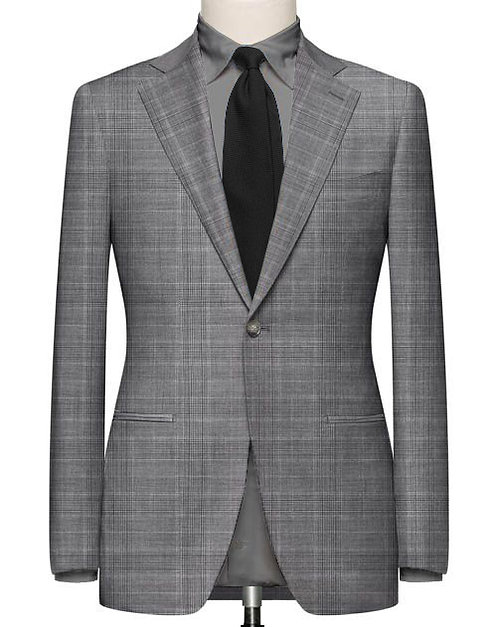 GREY GLEN CHECK SLIM FIT SUIT