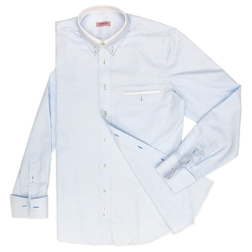 ANGEL BLUE PIN CHECK SHIRT