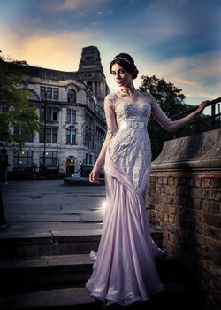 Burnished Lilac Mermaid Gown