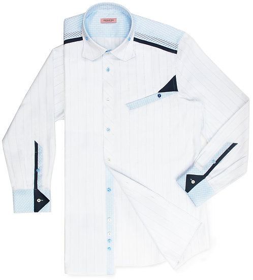 White Stripe Creative Shirt